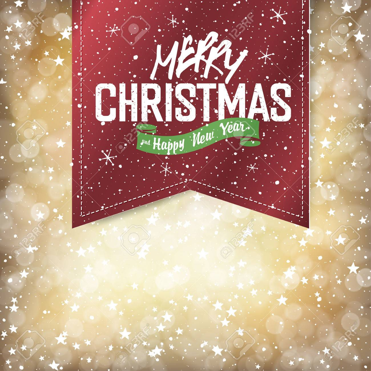 Merry Christmas Lights Background with Christmas Lettering - 48001828