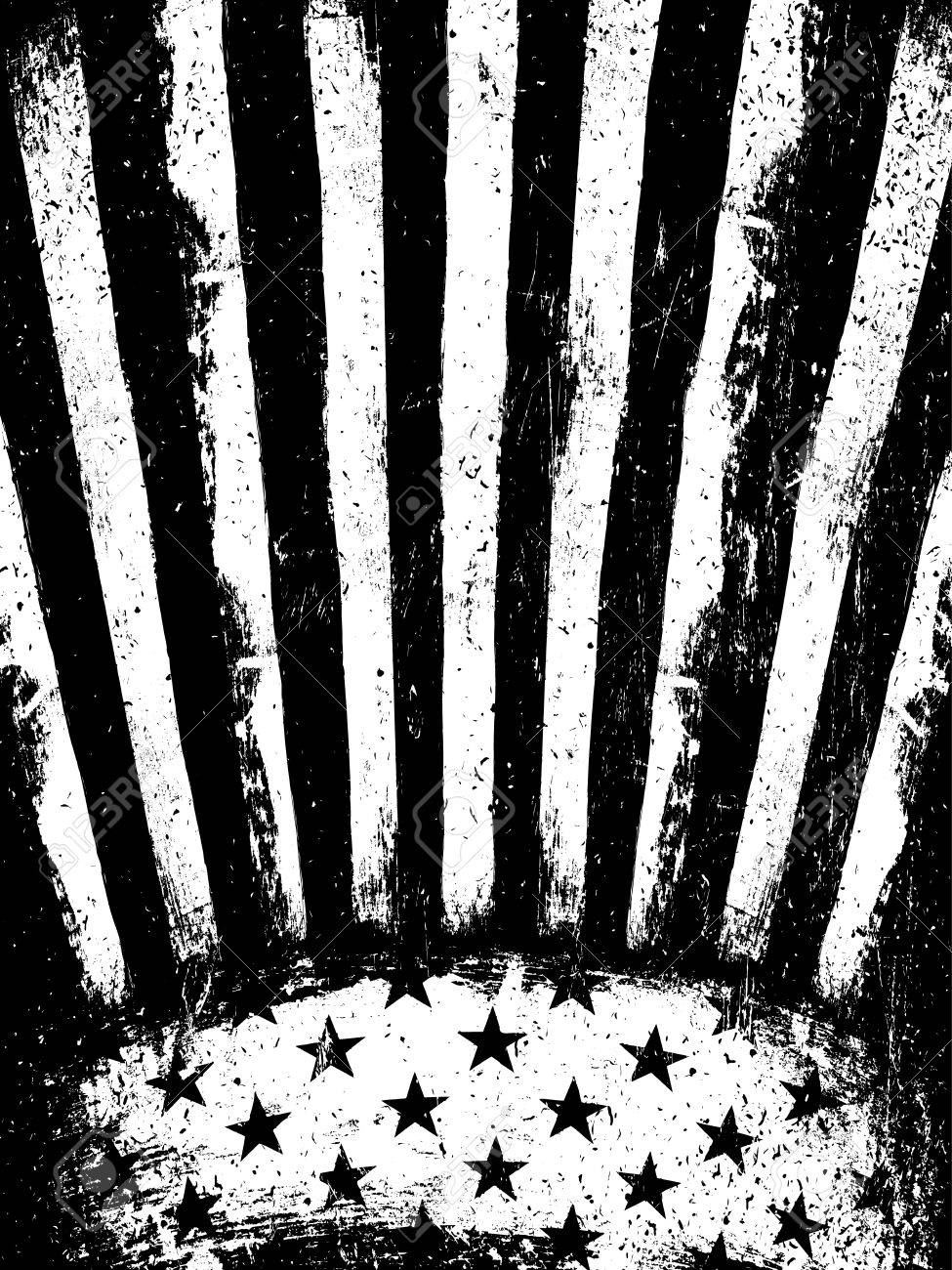 5a43caef42ed Monochrome Negative Photocopy American Flag Background. Grunge Aged  VectorTemplate. Vertical orientation. Stock Vector