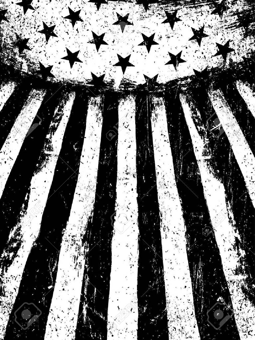 31fb447c3054 Monochrome Negative Photocopy American Flag Background. Grunge Aged Vector  Template. Vertical orientation. Stock