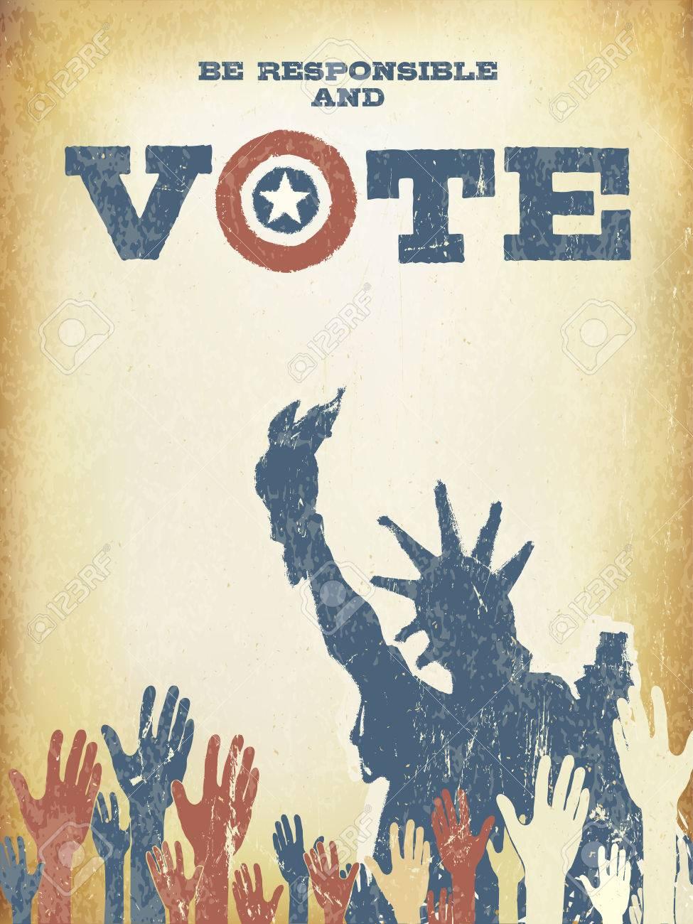 Verantwortlich Sein Und Wahlen Sie Auf Usa Karte Jahrgang Pattic