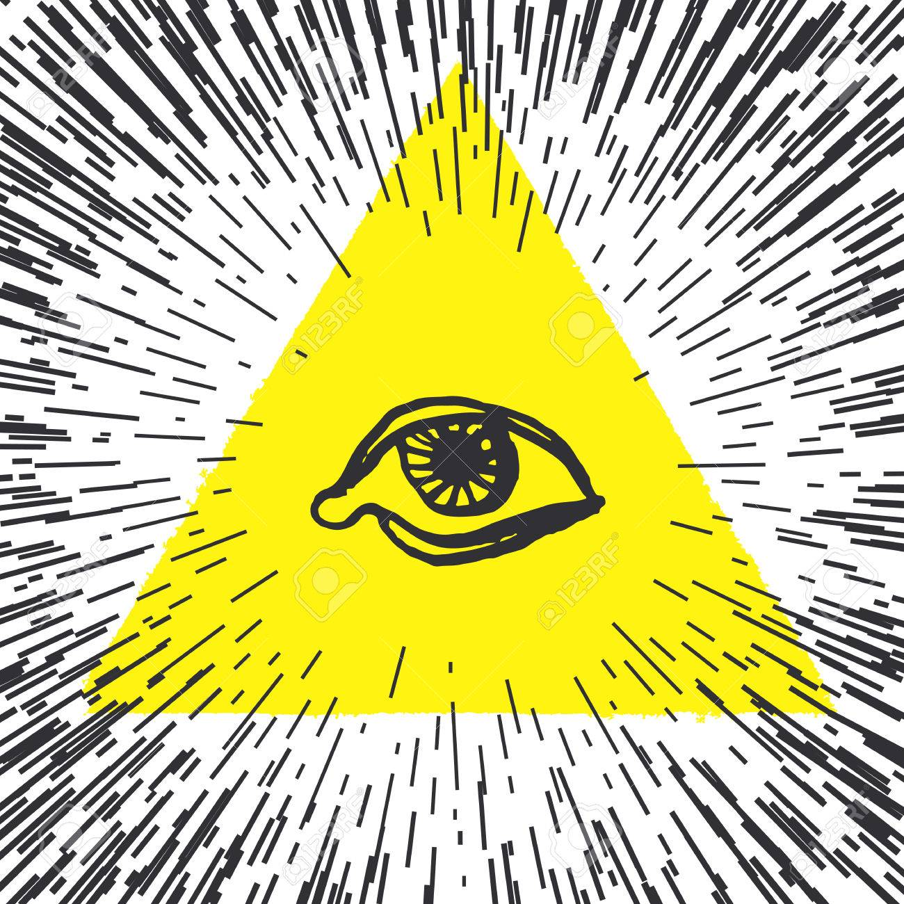 All Seeing Eye Pyramid Illustration Freemason And Spiritual