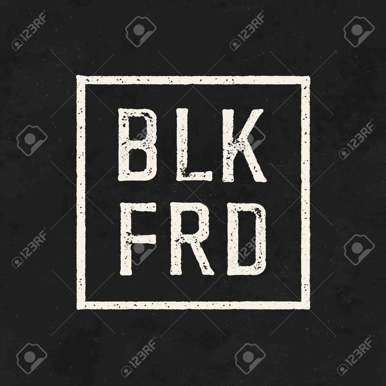 BLK FRD. Black friday sale on the blackboard background. - 65258852