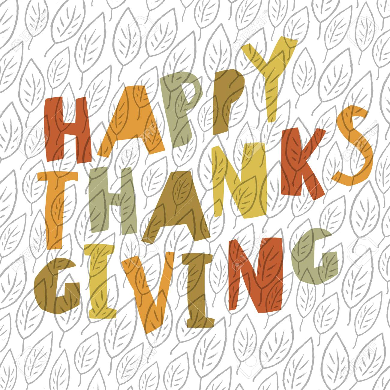 Happy Thanksgiving Design For Holiday Greeting Cards Designs