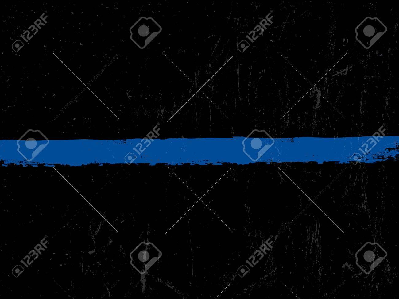 The Thin Blue Line. Police symbol. - 65265738