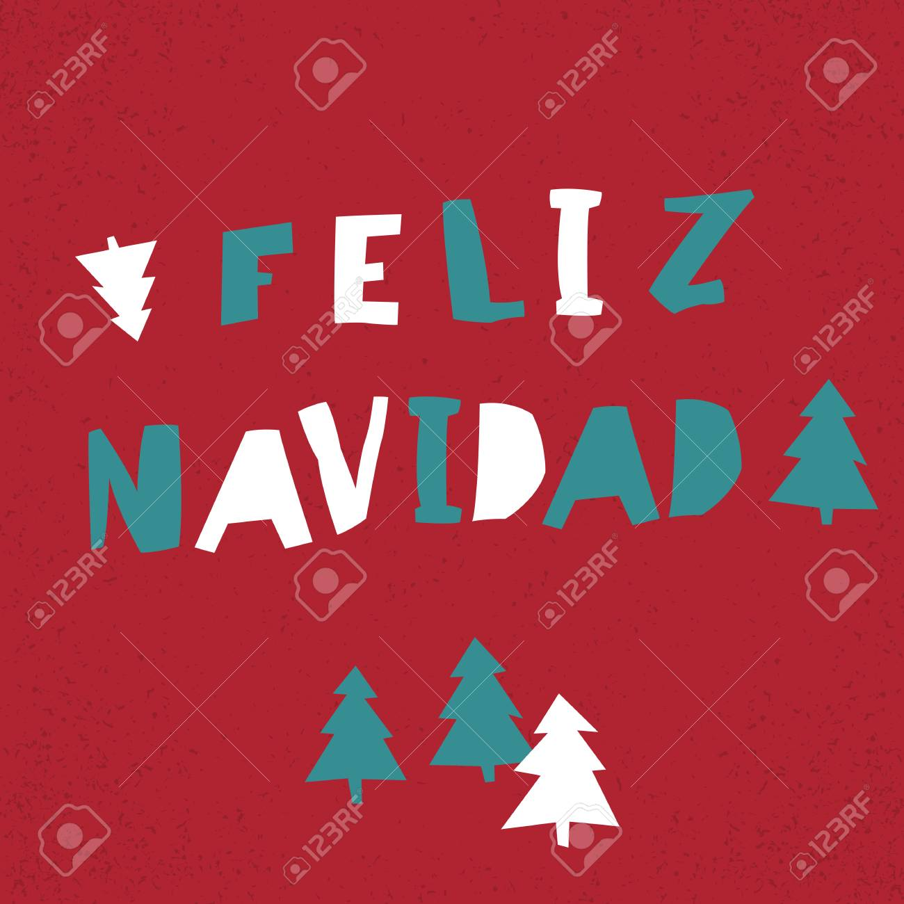 Feliz navidad vector merry christmas card template in spanish vector merry christmas card template in spanish language stock vector 67432654 kristyandbryce Images