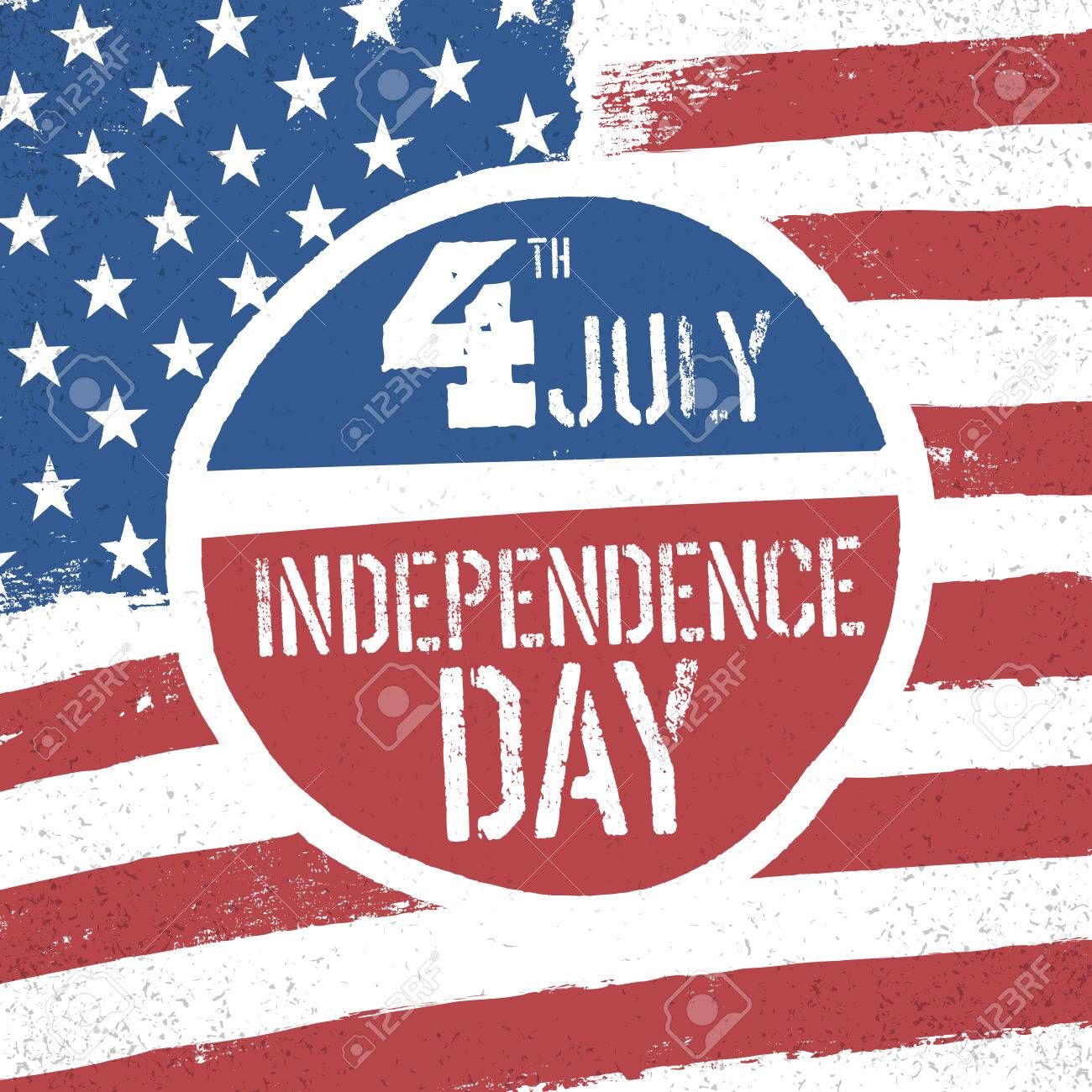 4th July Independence Day American Flag Patriotic Background