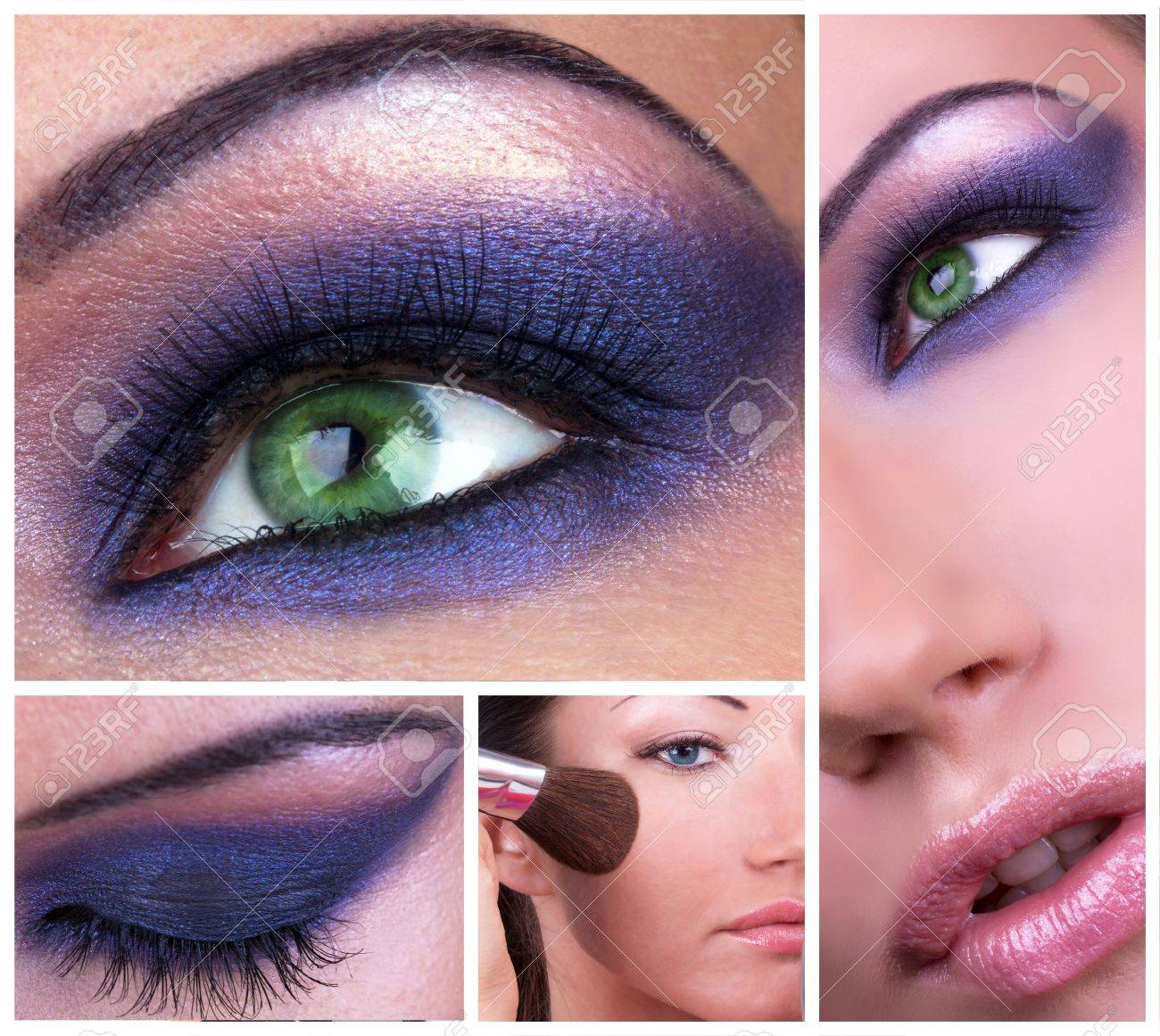 Collage with smoky eyes make-up Stock Photo - 8861454
