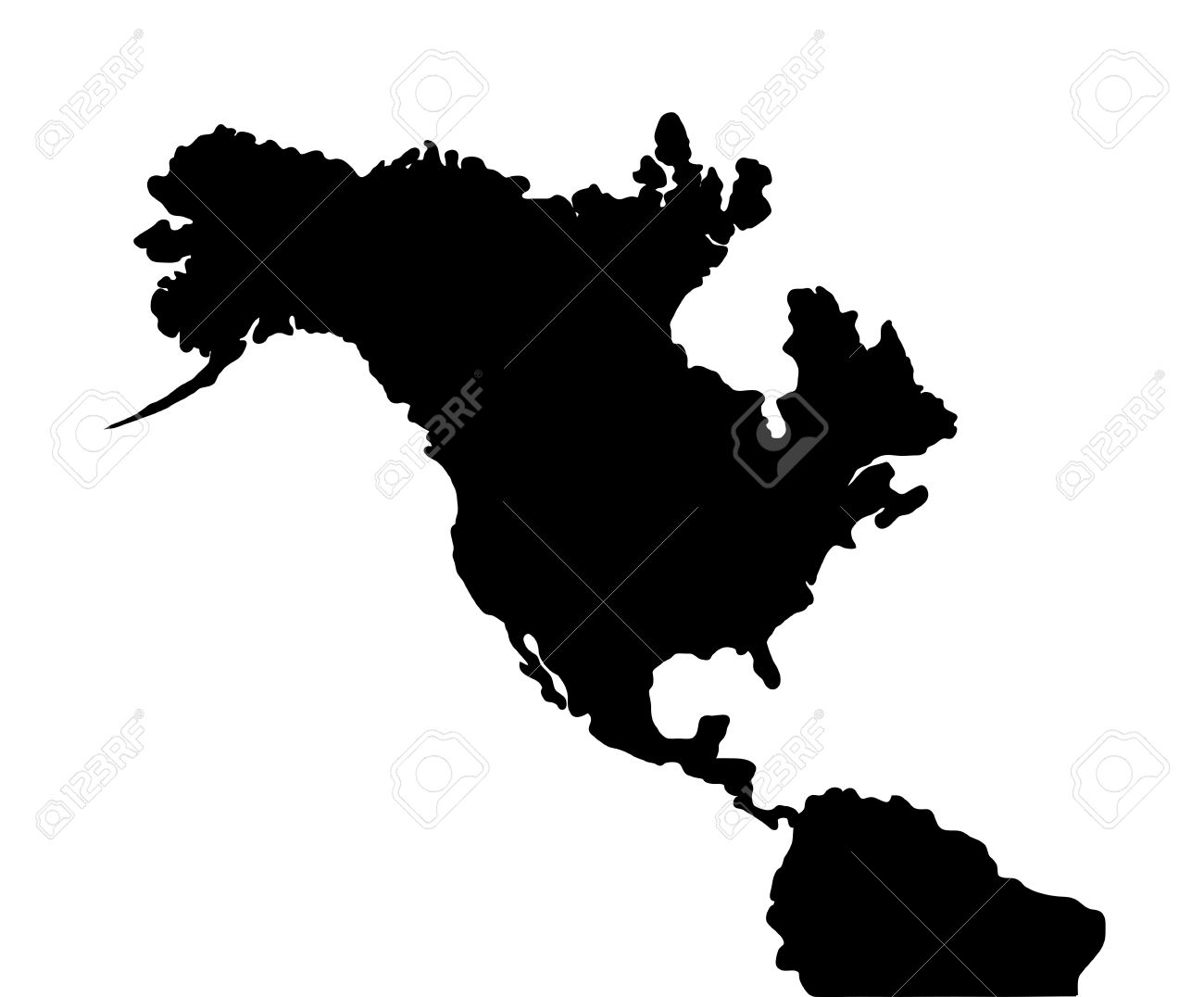 north america earthquake map of continent stock photo picture and