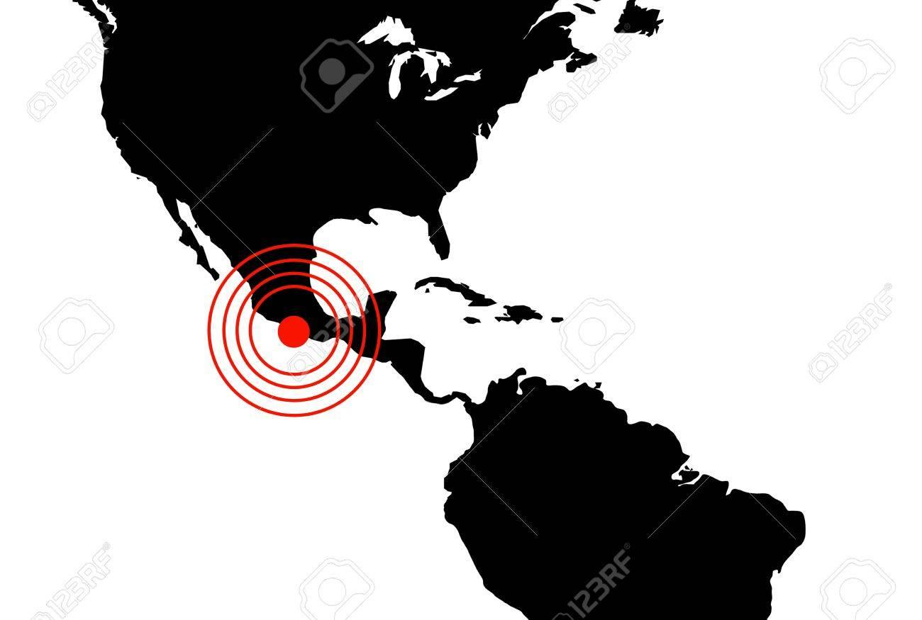 Earthquake in Mexico, illustration Stock Illustration - 11950087