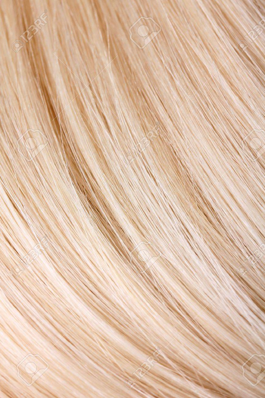 Blond hair extension, macro Stock Photo - 11950129