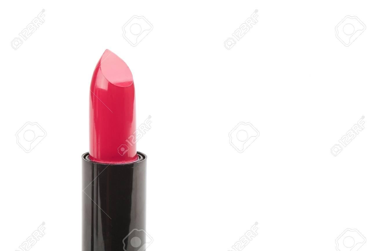 Lipstick closeup on white background Stock Photo - 21681753