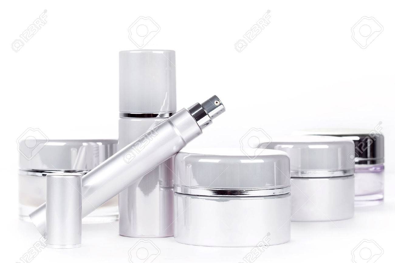 Collection of skincare spa products. Beauty concept Stock Photo - 24128217