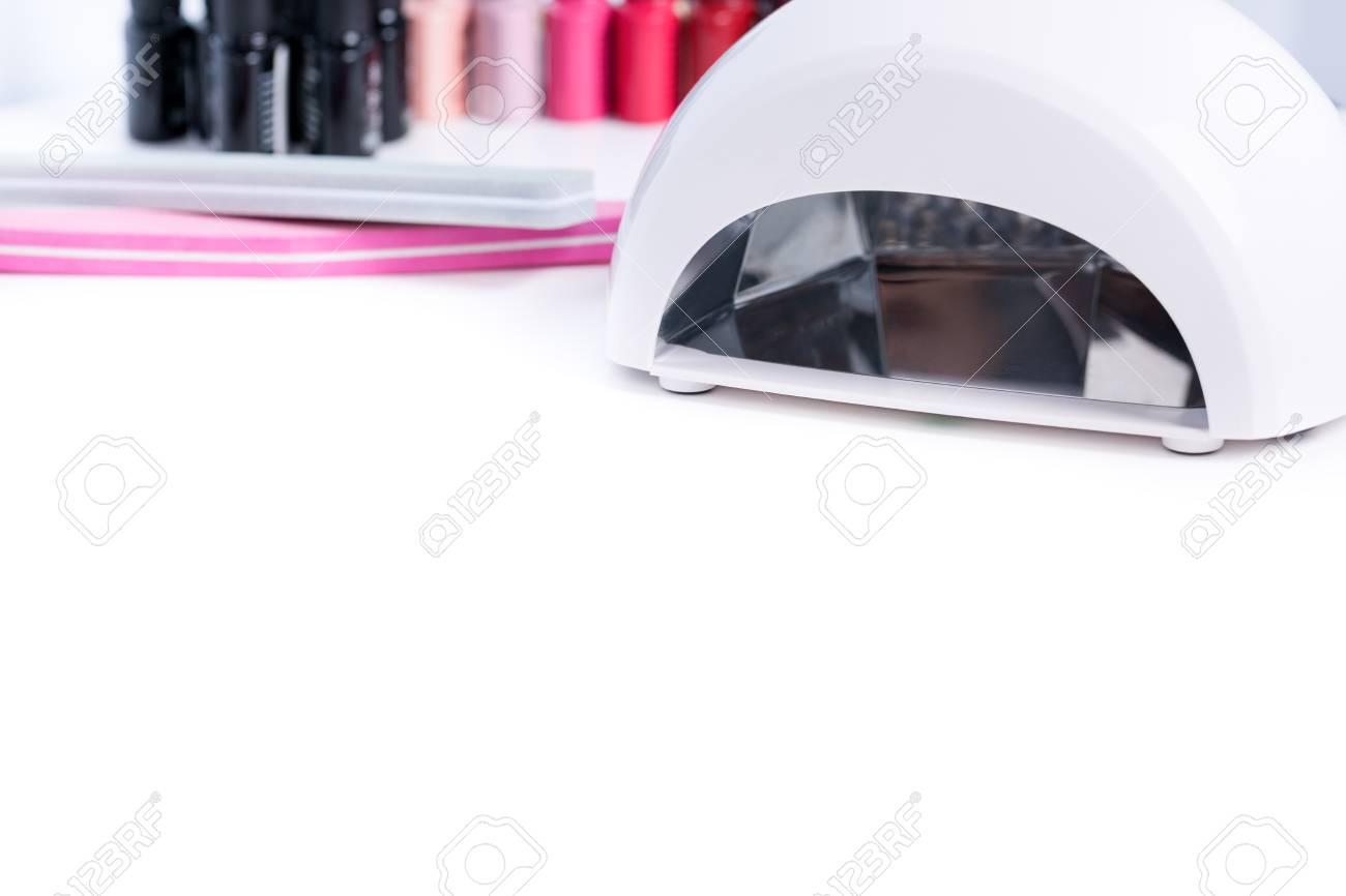 Manicure Set For Gel Nail Procedure - Nail LED Lamp, Colour Gel ...