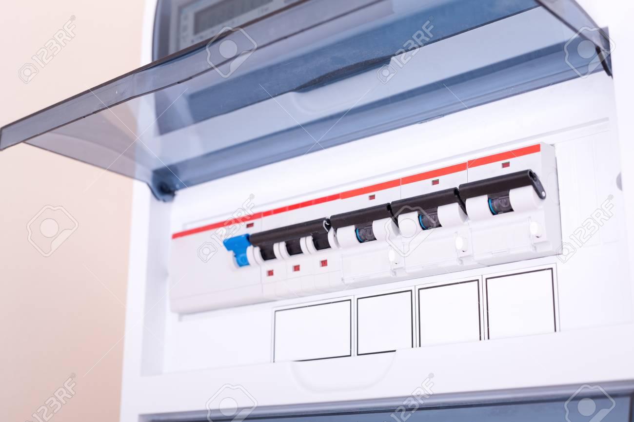 rcd circuit breaker board  fusebox at the apartment  nobody stock photo -  108443938