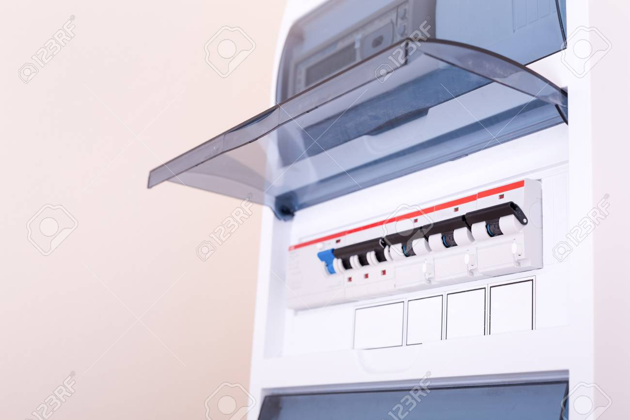 rcd circuit breaker board fusebox at the apartment nobody stockrcd circuit breaker board fusebox at the apartment nobody stock photo 108453133
