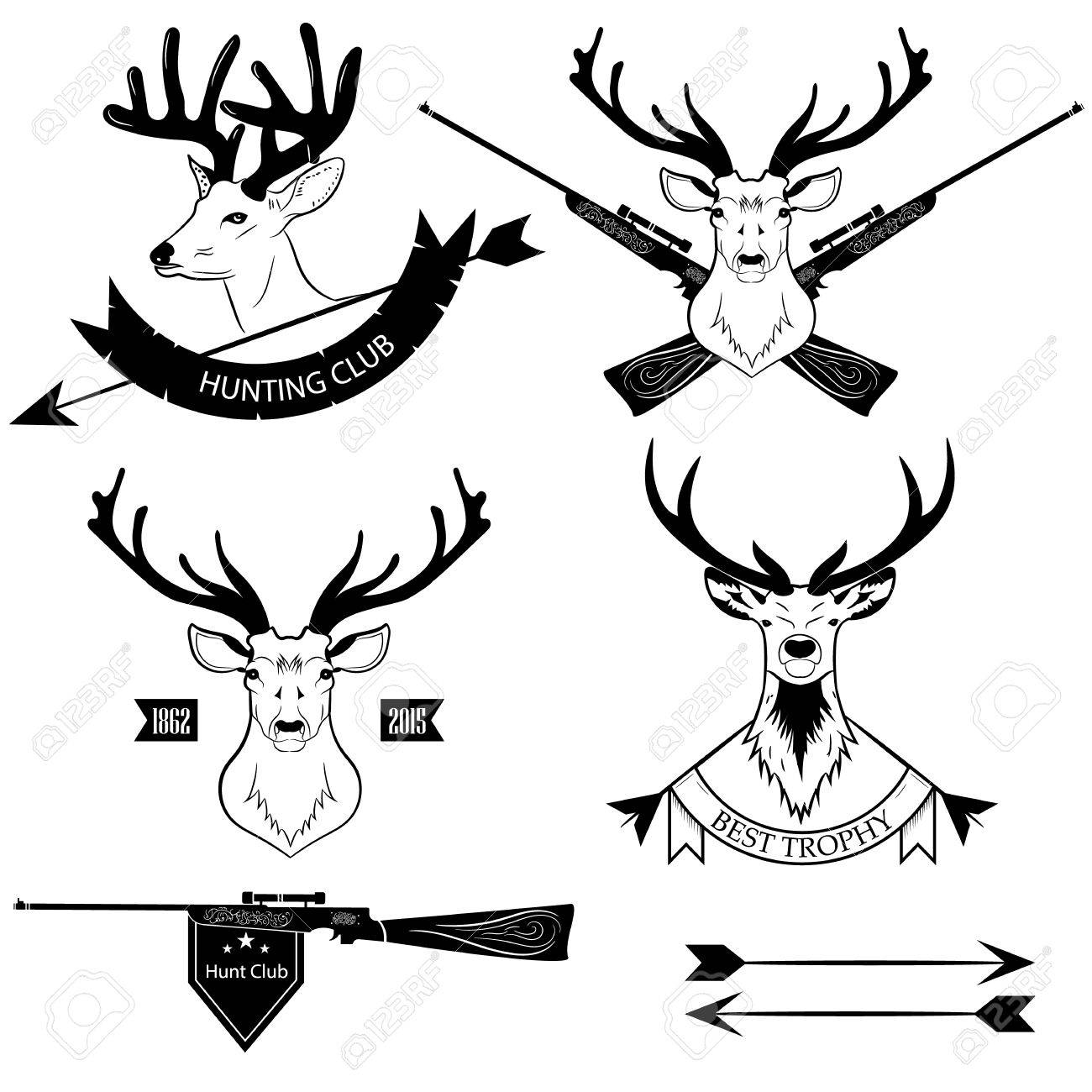 logos hunting clubs deer royalty free cliparts vectors and stock rh 123rf com deer logo shirts deer logistics