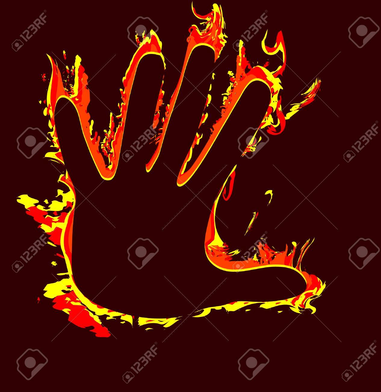 vector illustration - burned at work Stock Vector - 3679968