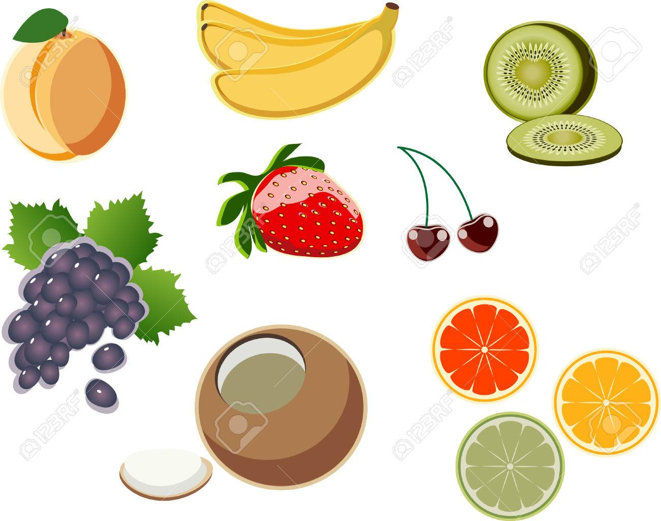 a set of vector images fruit № 1 Stock Vector - 3679967