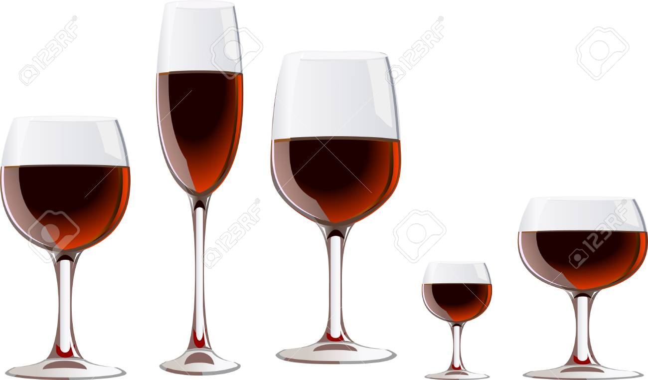 a glass of red wine Stock Vector - 3679965