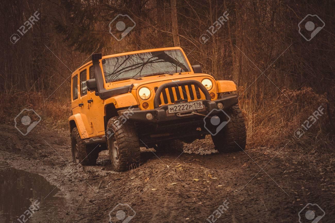 Jeep Wrangler Off Road >> Leningrad Oblast Russia October 22 2016 Offroad Expedition