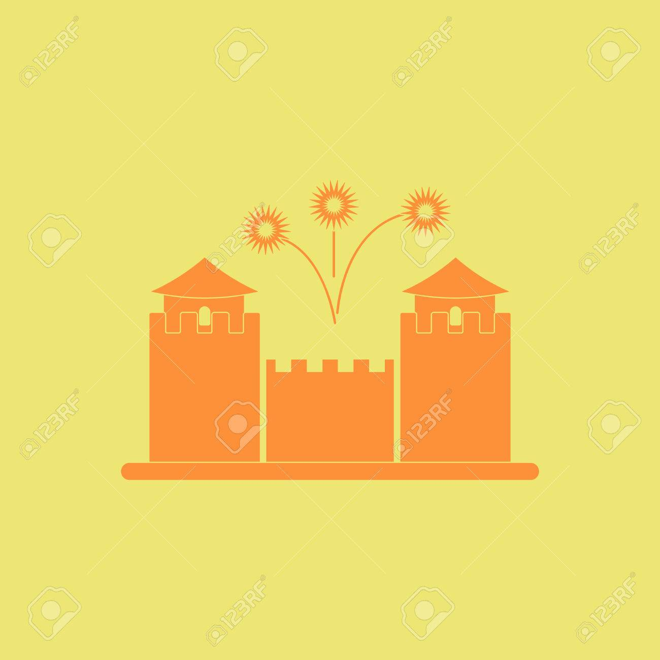 Great Wall Monument Vector Illustration Of Chinese New Year ...