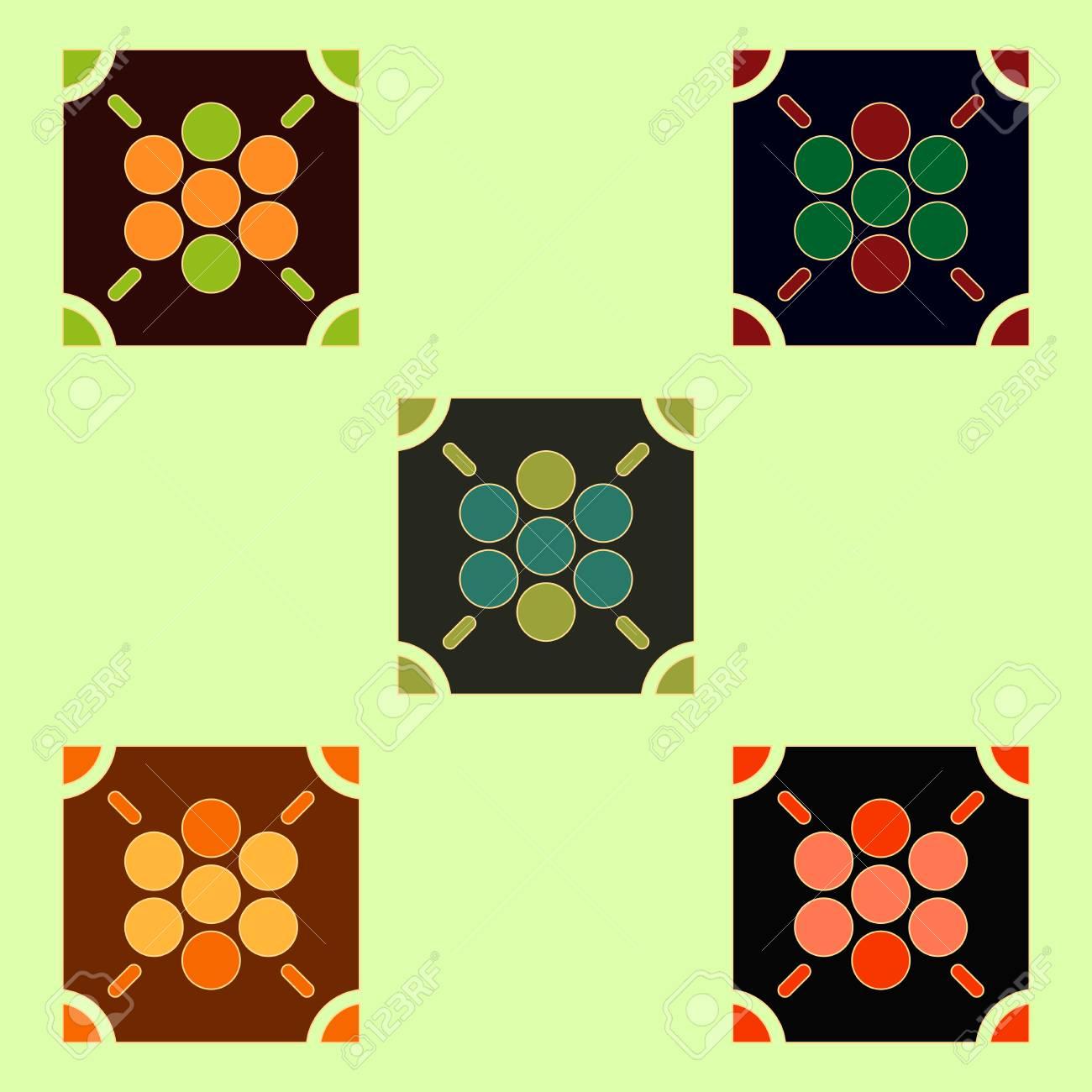 Ludo Coleccion De Juegos De Mesa Ilustraciones Vectoriales Clip Art