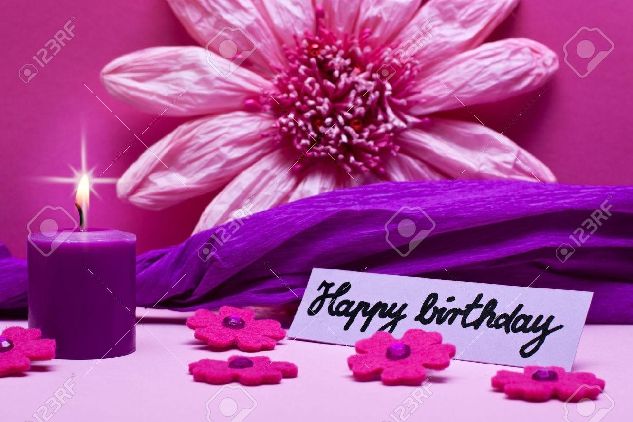 Purple background with text happy birthday stock photo picture and purple background with text happy birthday stock photo 17469754 thecheapjerseys Gallery
