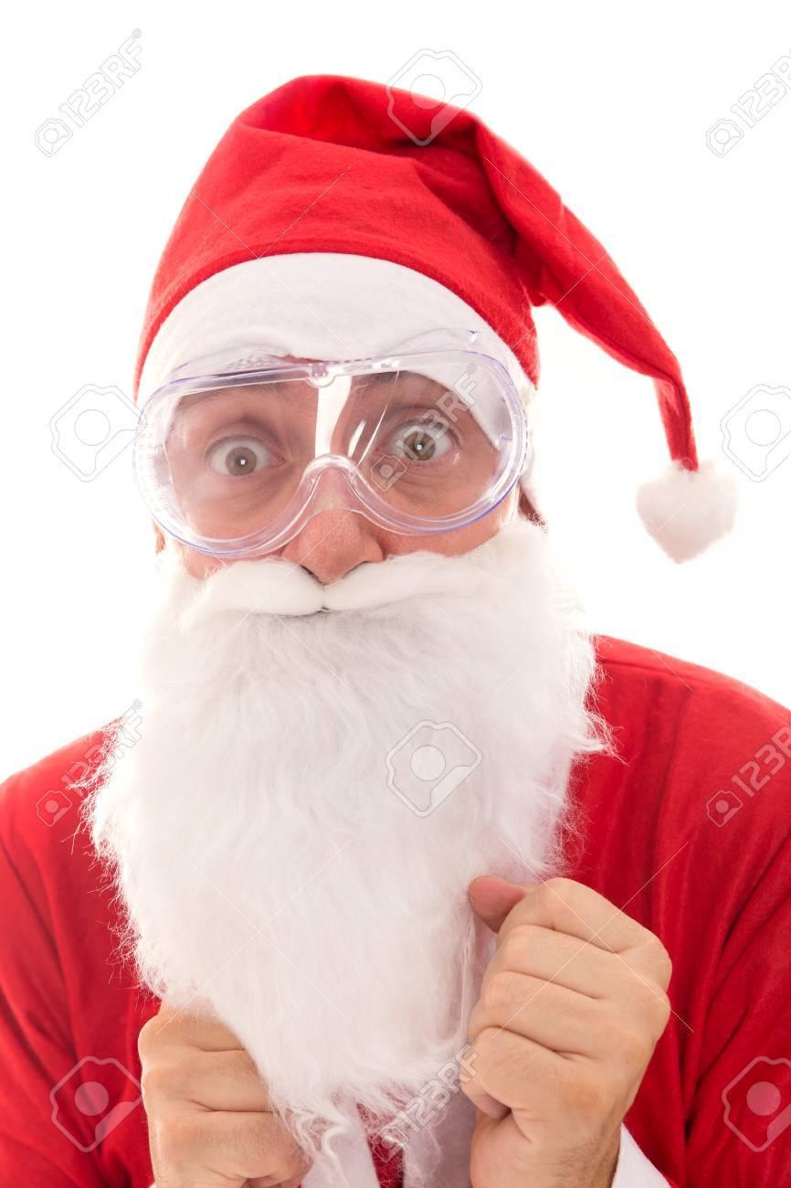 Angst Brille Weihnachtsmann Mit Sicherheit, Das Konzept Zu Schützen ...