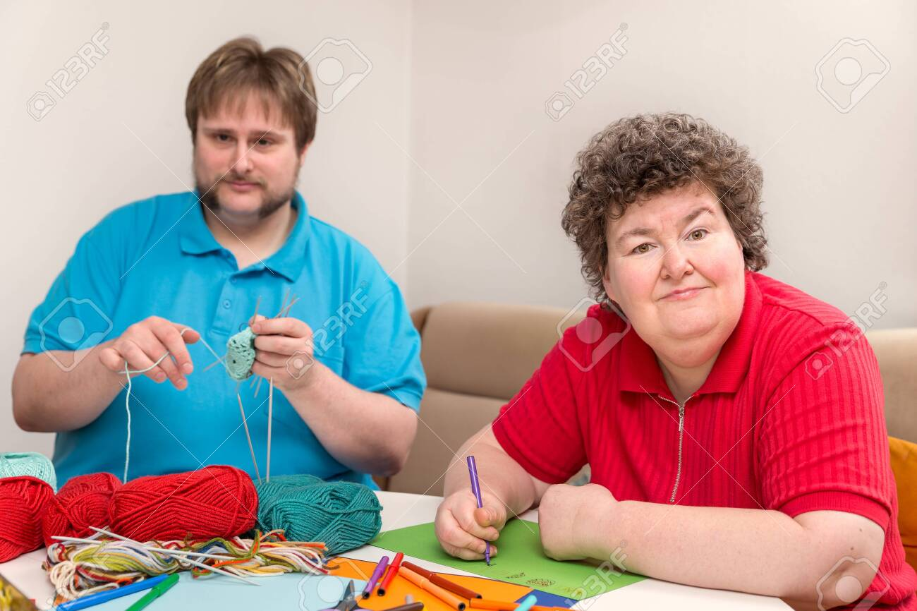 a man and mentally disabled woman are tinker - 125613075