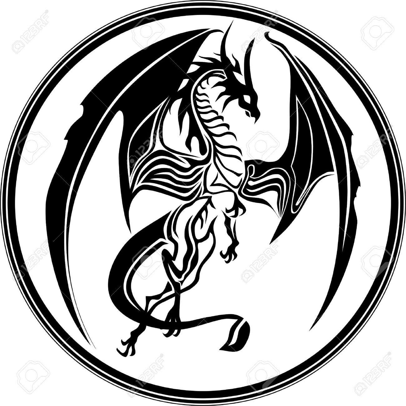 Dragon Tribal wie Standard-Bild - 12802721