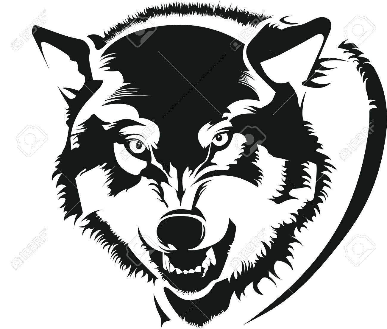 The face of a wolf Standard-Bild - 15659360