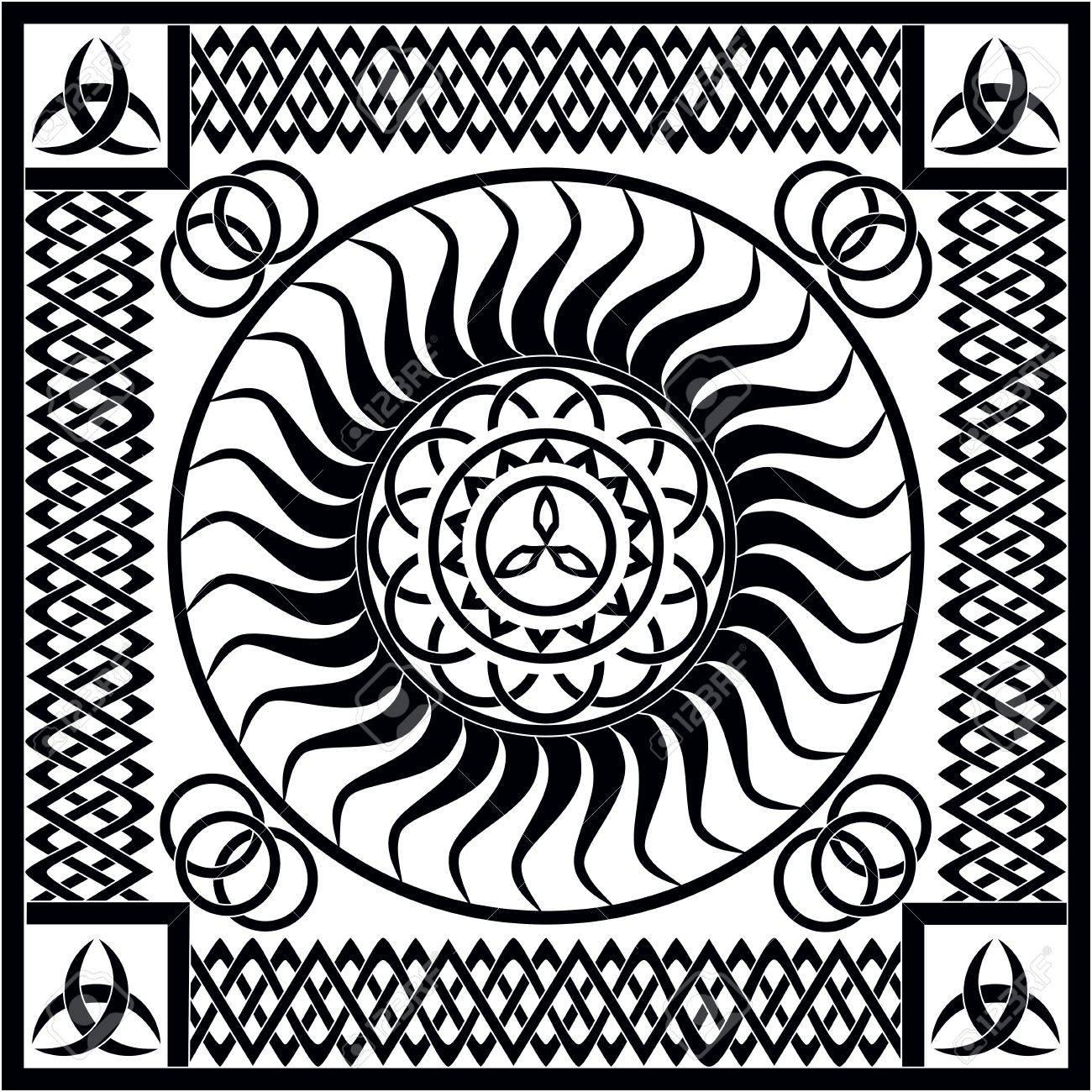 Vektor mittelalterlichen - Keltic Designs Standard-Bild - 42096973