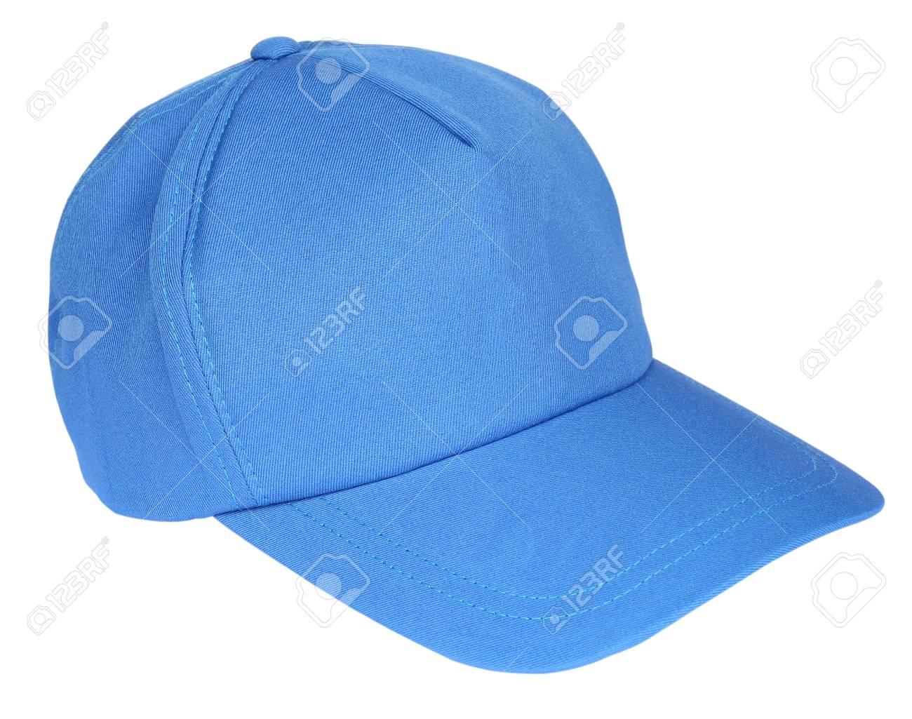 Foto de archivo - Gorra de béisbol azul aislado en un fondo blanco 952c321c227