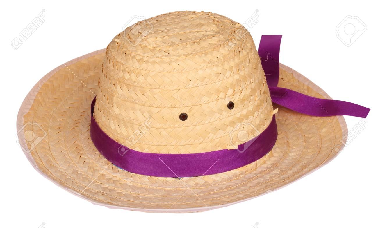 Sombrero De Bambú Enmarcador Aislado En El Fondo Blanco Fotos ...