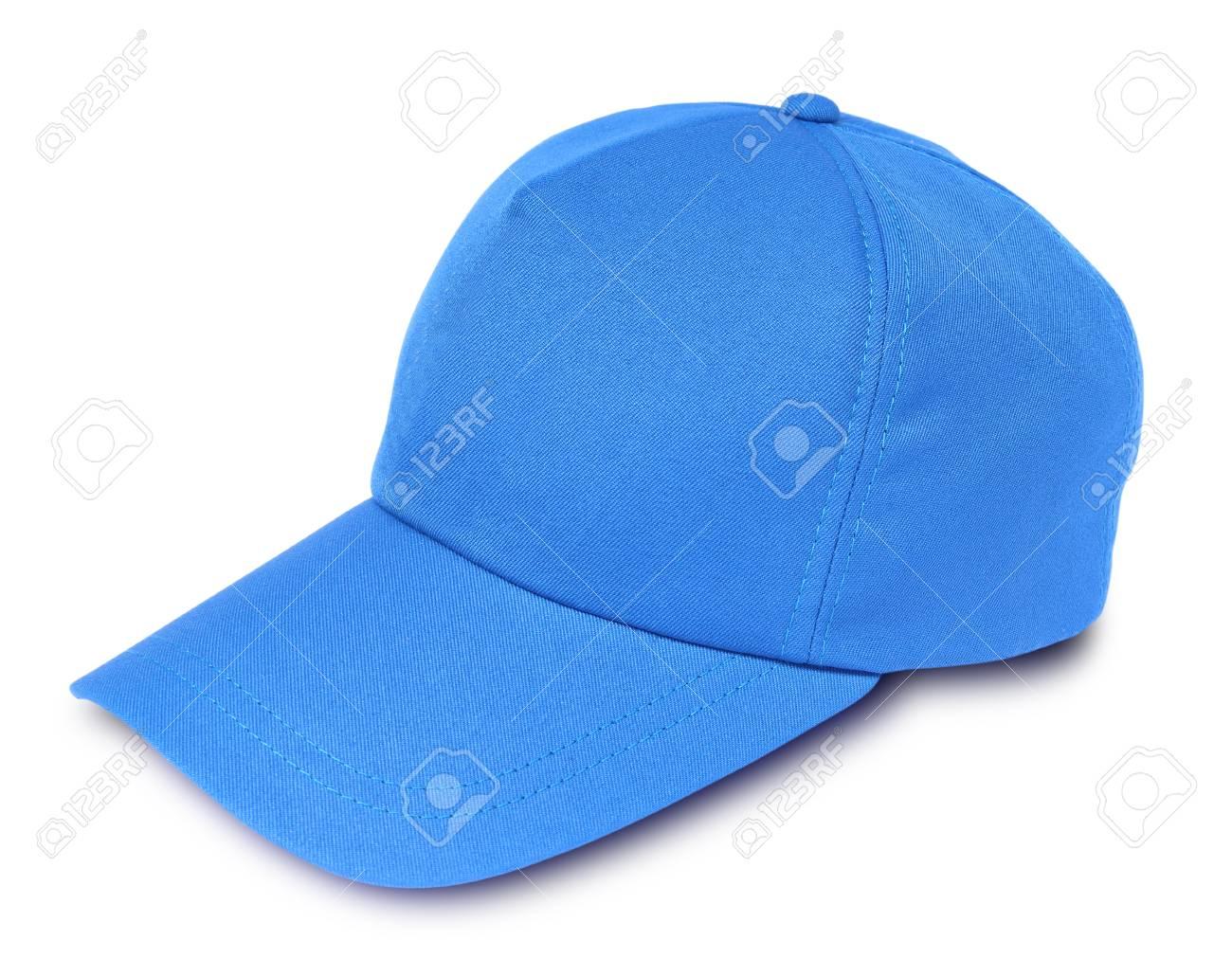 Blue baseball cap isolated on a white background Stock Photo - 61604018 ca3fe605110