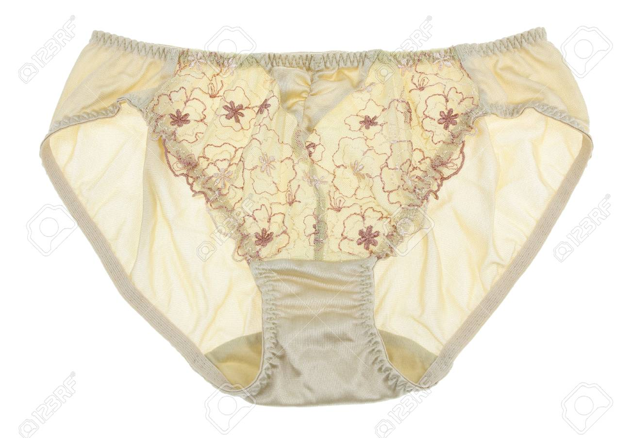 White cotton panties with white lace