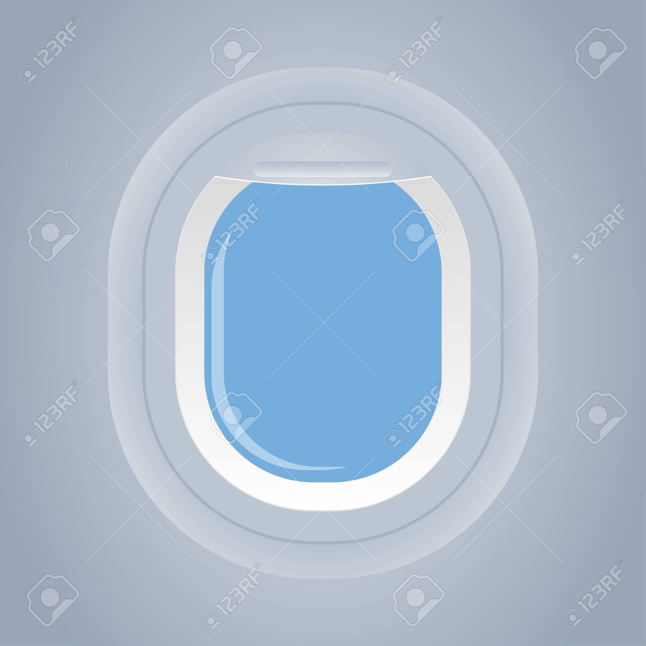 plane window isolated view from inside vector illustration - 126915000