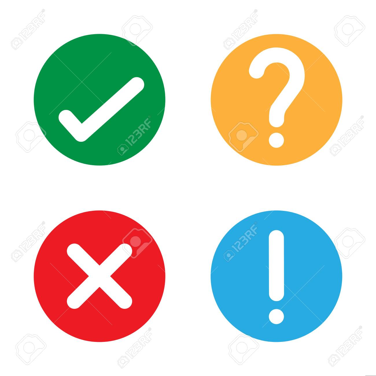 Yes check no question mark vector illustration icon - 133975192