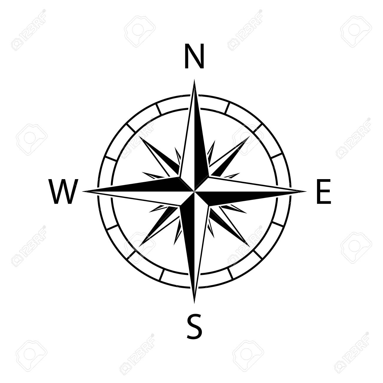 compass icon wind map north west vector illustration - 148432328