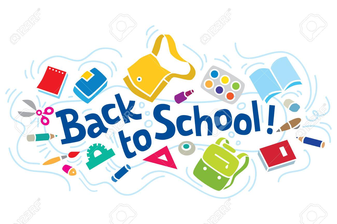Vector Illustration Or Design Template Of Logo Or Lettering Back To School  With Education Supplies And Doodle Lines Royalty Free Cliparts, Vectors,  And Stock Illustration. Image 41430794.