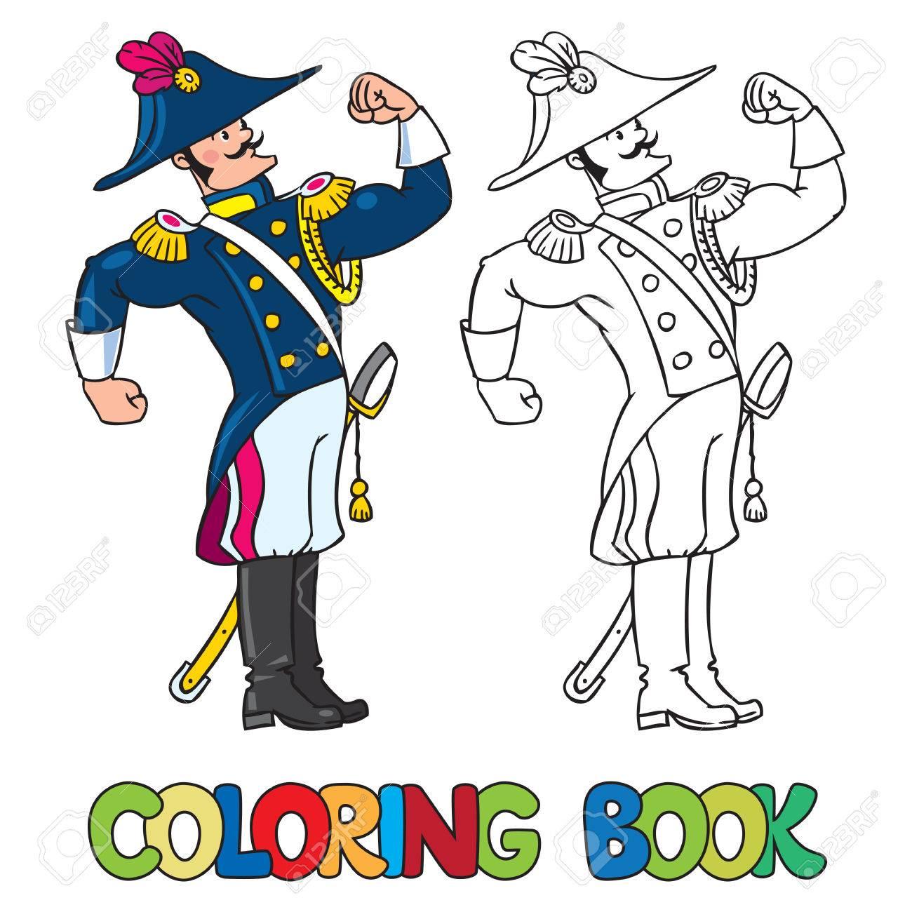 Libro Para Colorear O Imagen Coloración De Fuerte Valiente General O ...