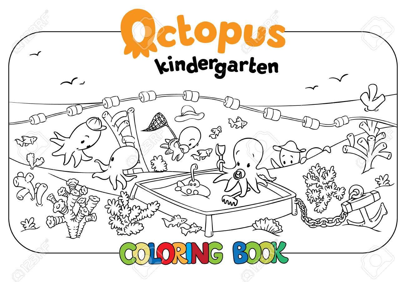 Livre De Coloriage Serti De Joyeux Petits Poulpes Drôles De La