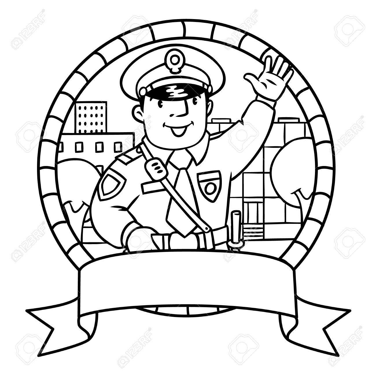 Fantástico Policial Para Colorear Colección - Ideas Creativas para ...