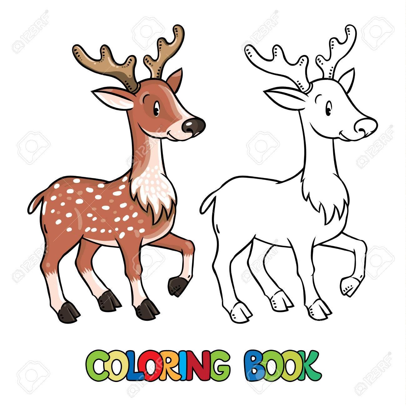 Contemporáneo Página Para Colorear De Ciervos Festooning - Enmarcado ...