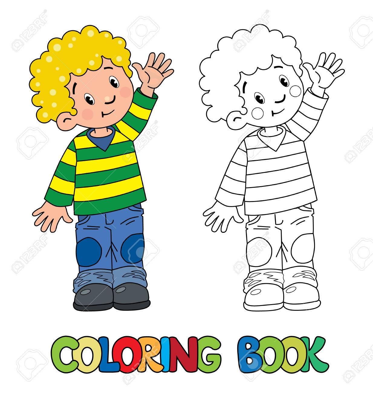 Livre De Coloriage Drôle Petit Garçon