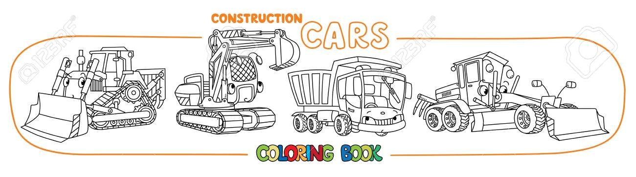 Construction Machinery Transport Coloring Book Royalty Free Cliparts ...