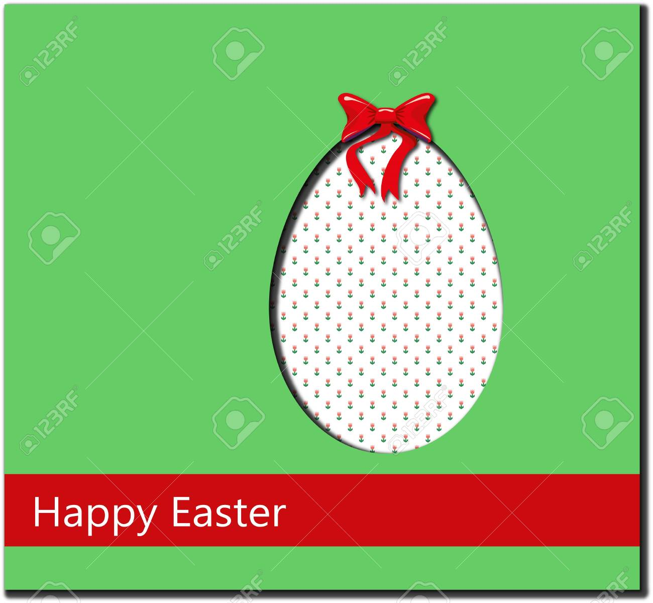 postcard for a Happy Easter Stock Vector - 18515633