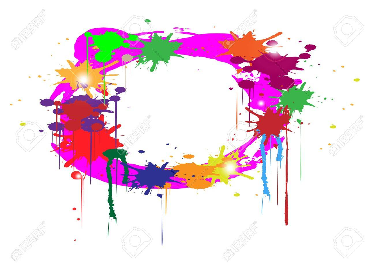 abstract colors splash on white background Stock Vector - 19548993