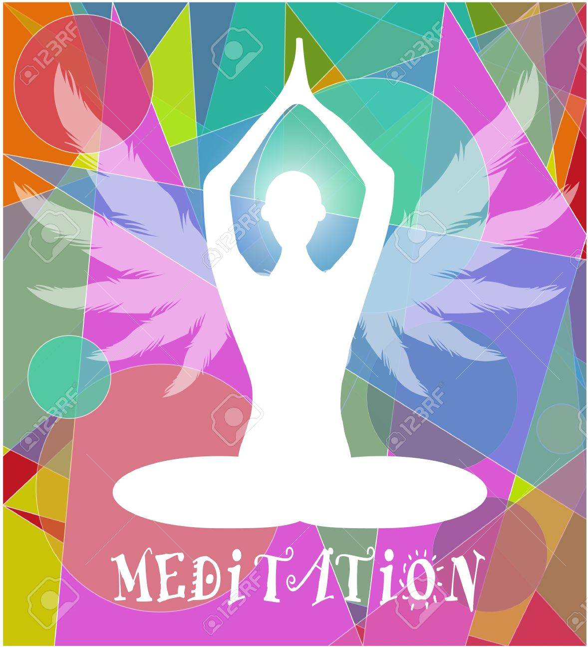 human figure in the lotus position Stock Vector - 21305289