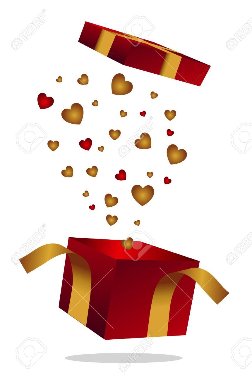 the love's box Stock Vector - 23469838